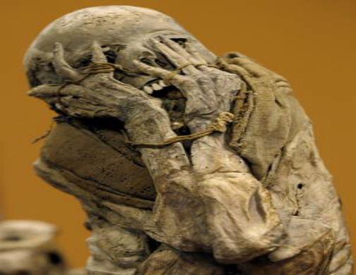 Foto de uma Mumia