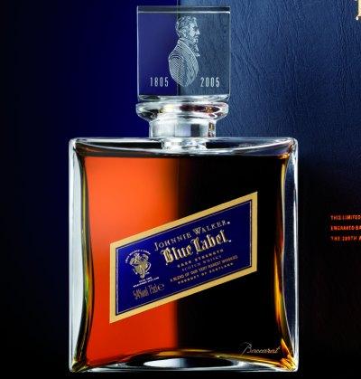 Garrafa do Blue Label Baccarat