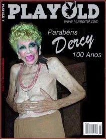 Capa da Playboy com Dercy Golçalves