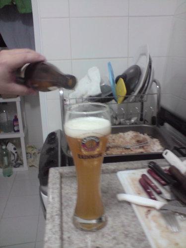 Um copo de Erdinger