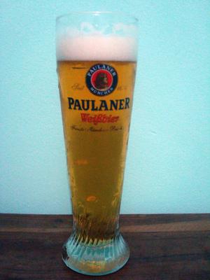 Copo da cerveja Paulaner Kristallklar