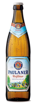 Garrafa da cerveja Paulaner Kristallklar