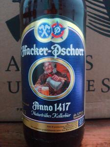 Rótulo da cerveja Paulaner Hacker Pschorr