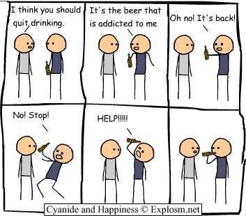 Tirinha engraçada sobre cerveja
