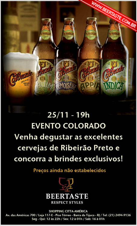 Flyer do Evento da Colorado