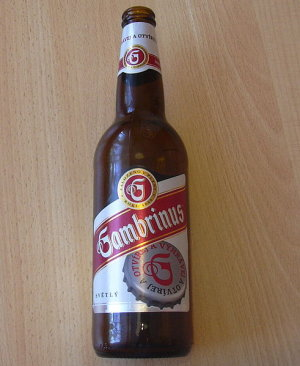 Garrafa da cerveja Gambrinus 10°
