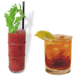Drinks Bloody Mary e Rum grog