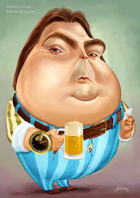 Faustao segurando Cerveja