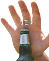 Anel abridor de garrafas