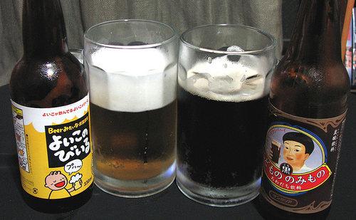 Copos e cervejas de criança