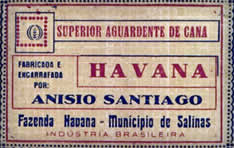 Rótulo da cachaça Havana