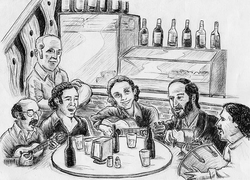 Bar desenhado com caneta Bic