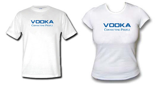 Camiseta Vodka connecting people