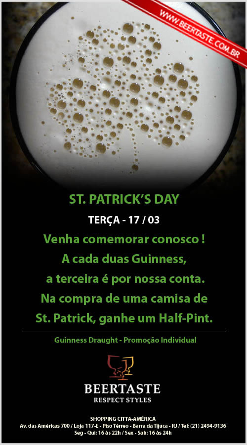 Flyer Patrick's Day do Beertaste
