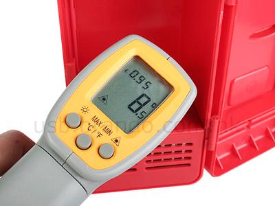 Mini Refrigerador USB mostrando temperatura