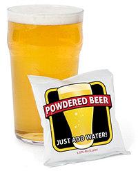 Pint da cerveja em pó