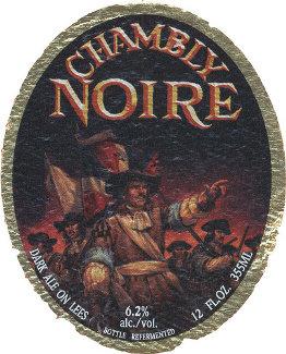 Rótulo cerveja Chambly Noire