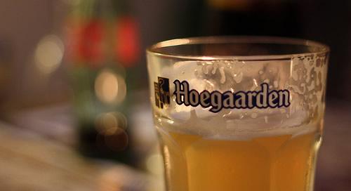Copo da cerveja Hoegaarden