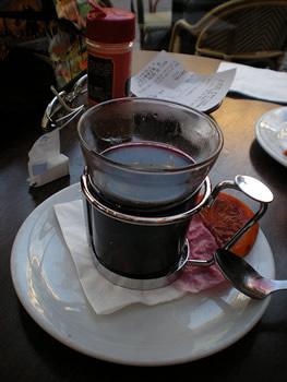Copo de vinho de canela