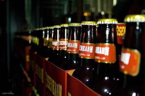 Garrafas da cerveja Eisenbahn