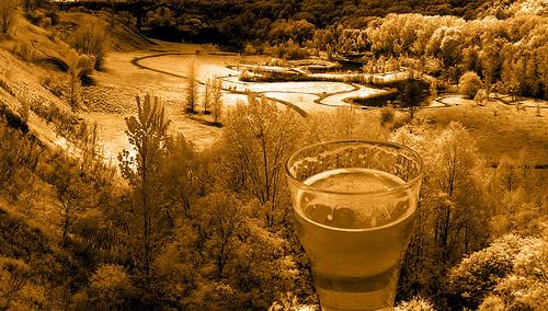Cerveja e paisagem