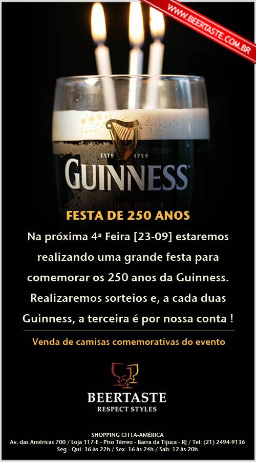 Flyer 250 anos da Guinness