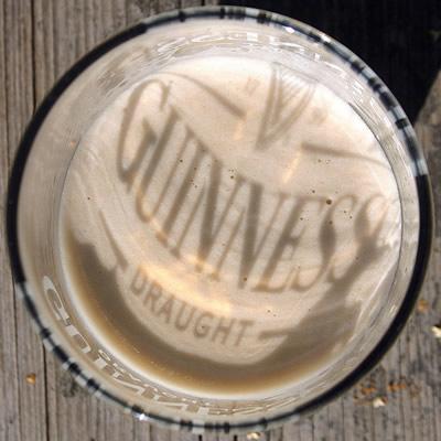 Guinness com sombra