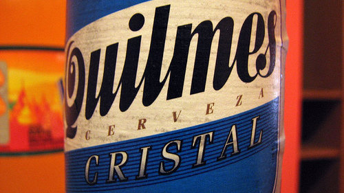 Macro da cerveja Quilmes