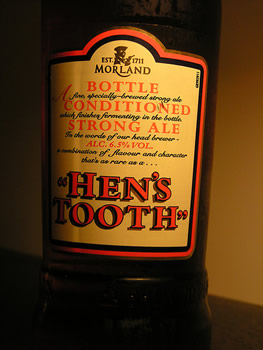 Garrafa da cerveja Hen's Tooth