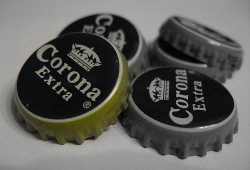 Tampinhas da cerveja Corona Extra