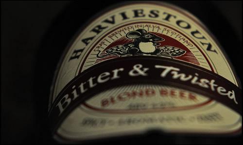 Garrafa da cerveja Harviestoun Bitter Twisted