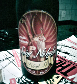 Garrafa da cerveja Saint Nicholas