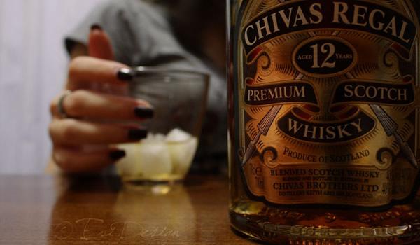 Garrafa do whisky Chivas