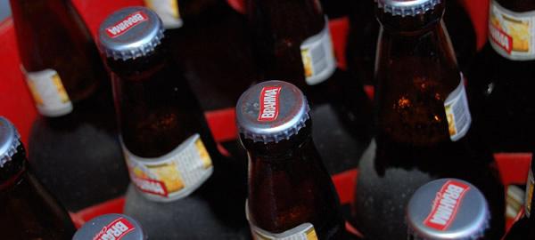 Garrafas de cerveja brahma