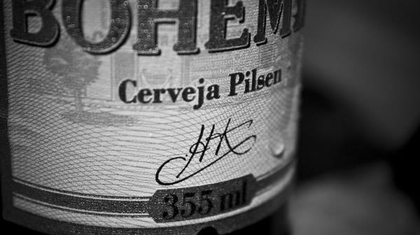 Rótulo da cerveja Bohemia