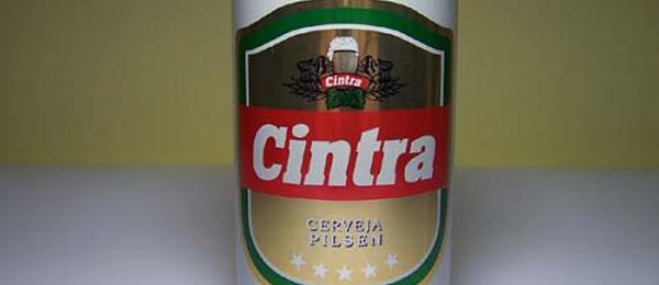 Latinha da cerveja cintra