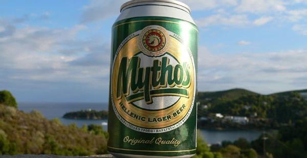 Lata da cerveja Mythos