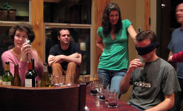 Teste cego com vinhos