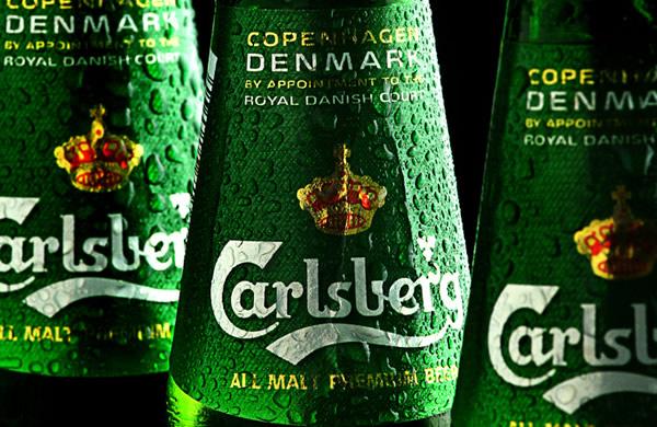 Garrafas da cerveja Carlsberg