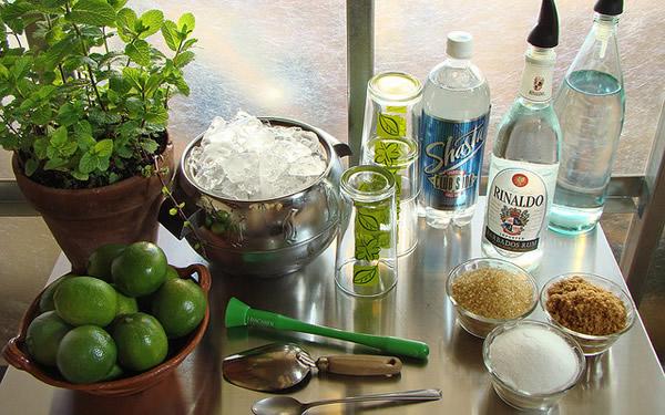 Ingredientes pra fazer o Mojito