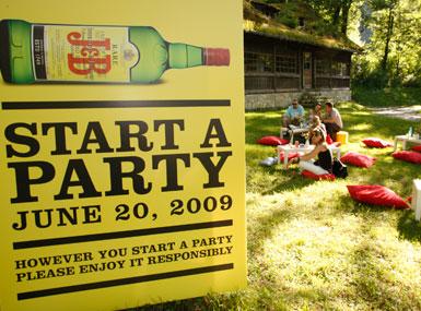 Placa festa Start a Party