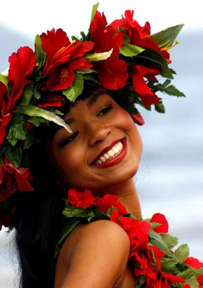 Havaiana sorrindo