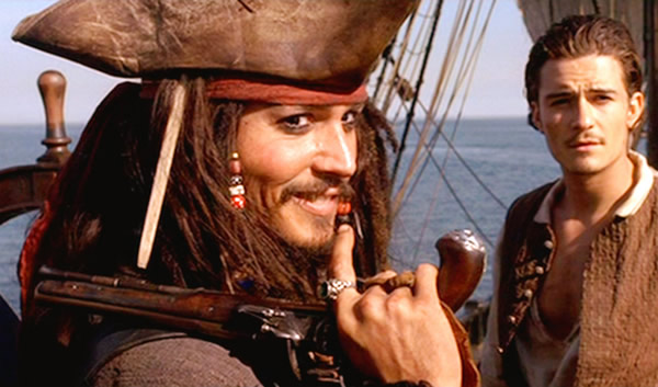 Jack Sparrow rindo