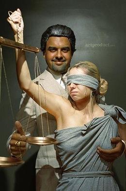 Mulher como balança do direito