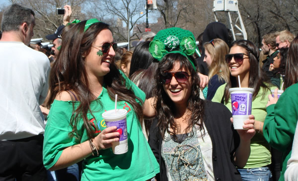 Mulheres no Saint Patricks Day