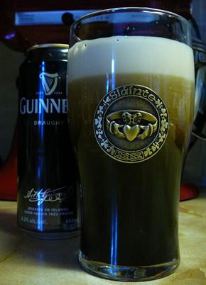 Taça da cerveja Guinness