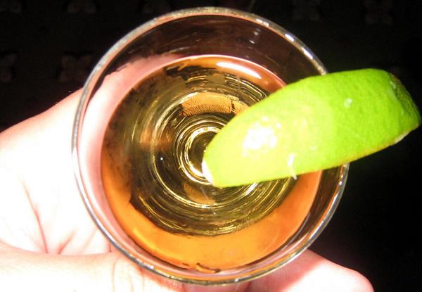 Copo de Tequila visto de cima