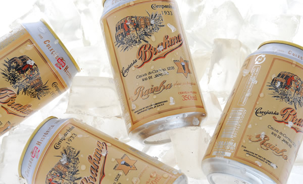 Latas da cerveja Brahma