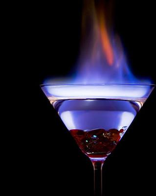 Shot de tequila pegando fogo