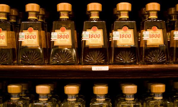 Várias garrafas de tequila